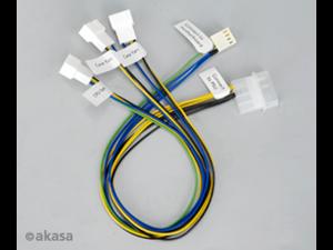 AK-CB002 Pwm Silent PWM Fan Splitter Cable 4pin Molex