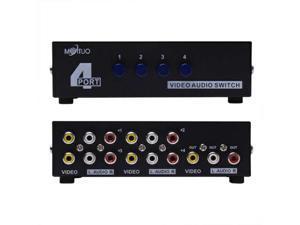 4 Port Input 1 Output audio Video AV RCA Switch Box New