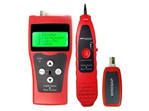 NF-308 Network Cable Tester Hunting Wire Sorting Coax Cable Length Tester RJ45 RJ11 BNC