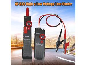 NF-820 High & Low Voltage Cable Tester Underground Wire Tracker Test Tools with LED