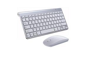 Best Price Mini Keyboard & Mouse With RF 2.4GHZ Wireless Connection by a USB Nano Receiver, and Super Thin Design