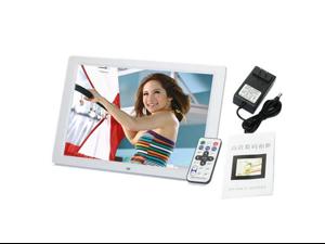 "High resolution  Digital Photo Frame 15"" LED Wide Screen 1280 * 800 Mult-Media MP4 Player White"