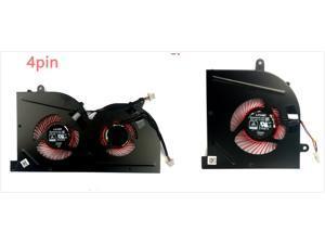 1 pair 4-pins CPU  GPU Red Blades  Cooling Fan For MSI GS63VR GS73VR Stealth Pro BS5005HS-U2F1 U2L1