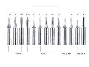 12 Pcs Solder iron tip 900M-T for soldering station soldering environmentally friendly soldering tools soldering tip for Computer Tool Kit Type-D Type-C Type-IS-I-B Type-SK-K