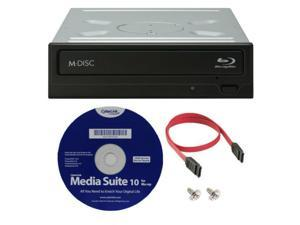 WH16NS40K 16X Internal Blu-ray BDXL M-DISC DVD CD Writer Drive with 3D Playback