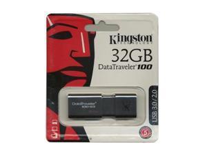 Kingston DataTraveler 100 G3 32GB  USB 3.0 Flash Drive Model DT100G3 - Pack of 2