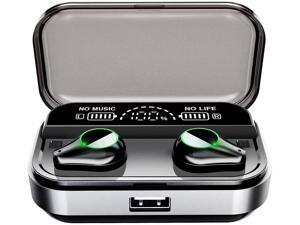 True Wireless Earbuds, NEK X200 Bluetooth 5.0 Earbuds in-EarTWS Stereo Headphones with Smart LED Display Charging Case IPX7 Waterproof 120H Playtime Built-in Mic with Deep Bass for Sports Work