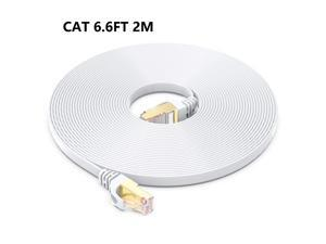 Cat 8 Ethernet Cable 6.6FT, 26AWG Heavy Duty High Speed RJ45 Patch Cord, Cat8 LAN Gold Plated 40Gbps 2000Mhz Network, Indoor, Outdoor & Weatherproof S/FTP UV Resistant for Router/Modem/Gaming/Switch