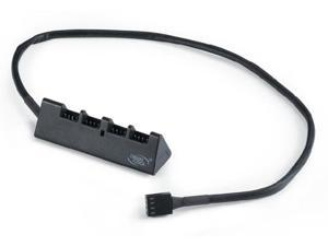 DeepCool Fan Hub - CPU Cooler / Case / Chasis Cooling Fan Power Cable Splitter 1 to 4 Adapter - PWM Supported