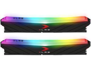 PNY 32GB (2x16GB) XLR8 Gaming Epic-X RGB DDR4 3600MHz Desktop Memory – (MD32GK2D4360018XRGB)