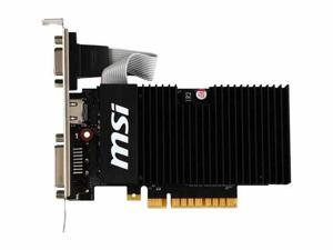 MSI GeForce GT 710 1GB DirectX 12 GT 710 1GD3H LPV1 64-Bit DDR3 PCI Express 2.0 x8 HDCP Ready Low Profile Video Graphics Card