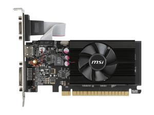 MSI GeForce GT 710 2GB DirectX 12 GT 710 2GD3 LP 64-Bit DDR3 PCI Express 2.0 HDCP Ready Low Profile Video Graphics Card