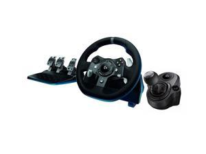 Logitech G920 Dual-motor Feedback Driving Force Racing Wheel + Responsive Pedals for Xbox One + Logitech G Driving Force Shifter Compatible with G29 and G920 for Playstation 4, Xbox One and PC