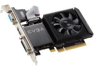 EVGA GeForce GT 710 DirectX 12 01G-P3-2711-KR 1GB 64-Bit DDR3 PCI Express 2.0 Low Profile Video Card