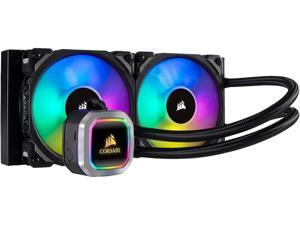 CORSAIR HYDRO Series H100i RGB PLATINUM AIO Liquid CPU Cooler, 240mm Radiator, Dual 120mm ML Series PRO RGB PWM Fans, RGB Lighting and Fan Software Control, Intel 115x/2066 and AMD AM4/TR4 compatible