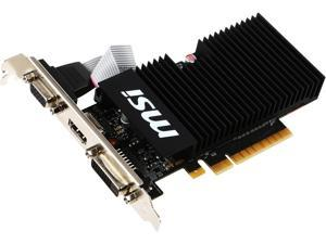MSI GeForce GT 710 DirectX 12 GT 710 1GD3H LPV1 1GB 64-Bit DDR3 PCI Express 2.0 x8 HDCP Ready Low Profile Video Card