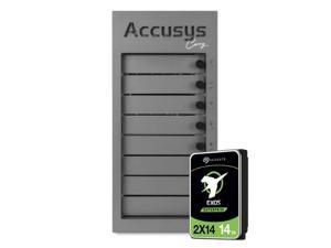 Accusys - Gamma Carry 112TB, 8 Bay RAID Portable Storage, Seagate 14TB Enterprise Dual-Actuator HDD, Highest Performance 2470 MB/s World Most Compact for Easy Travel