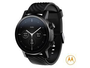 Motorola Moto 360 3rd Gen Smartwatch - Phantom Black Stainless Steel Case With 20mm Band, All-day Battery, WearOs, & DLC coating for increased scratch-protection