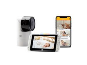 KODAK Cherish C525 Video Baby Monitor with Mobile App - 5 HD Screen - Hi-res Baby Camera with Remote Tilt, Pan and Zoom
