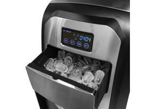 Touch Screen Stainless Steel Countertop Portable Ice Maker Great for Home Office Boat RV Ice Cube Machine