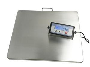 """Extra Large Platform 22"""" x 18"""" Stainless Steel 400lb Heavy Duty Digital Postal Shipping Scale, Powered by Batteries or AC Adapter, Great for Floor Bench Office Weight Weighing"""