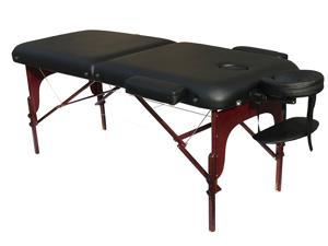 """Angel Deluxe Extra Wide 30""""W Professional Portable Massage Table with 3"""" Thick Cushion & Carry Case, Great For Facial SPA Bed Tattoo Home Therapist"""