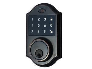 Contemporary Touchscreen Motorized Deadbolt Electronic Keyless Entry Digital Touchpad Keypad Door Lock