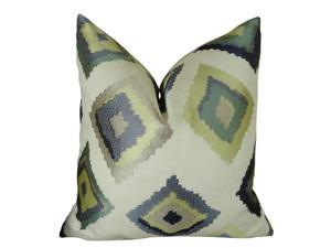 """Plutus Native Trail Dew Handmade Throw Pillow, (Double sided  22"""" x 22"""")"""