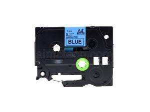 """Brother TZe-511 P-Touch Label Tape, 6mm (0.25"""") Black on Blue, Compatible"""