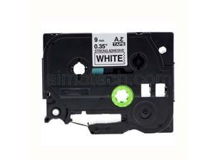"""Brother TZe-S221 9mm (0.375""""), Length of 8M, Black on White Strong Adhesive Compatible Label Tape"""