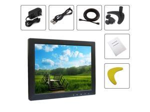 CID Updated YT10 CCTV Monitor 9.7 inch TFT LCD Screen with AV, HDMI, BNC, VGA Input for PC Security Cam CCTV DVR System Pixels 1024 x 768 (Black)