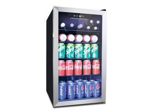 132 Can Beverage Refrigerator Cooler with Digital Thermostat - Bar Fridge with Reversible Clear Front Glass Door for Beer Soda or Wine Drink Machine for Home, Office or Bar, 3.6 cu.ft