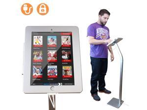 Angel POS iPad Kiosk Floor Stand Enclosure w/ Security Lock & Charging Cable for iPad 2/3/4 Trade Show Conference Exhibition