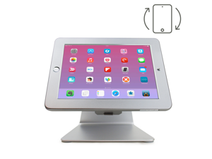 Angel POS iPad Desktop Anti-Theft POS Stand Holder Enclosure with Lock & Key for Retail Kiosk iPad 2 3 4 5/air work with your iPad like iMac