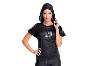 Star Wars Darth Vader Women's Rhinestone Costume Shirt: Small