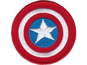 "Mini Patches - Captain America - Shield 2"" Iron On New p-mvl-0044"