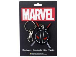 Key Chain - Marvel - Deadpool Logo Bendable New Toys Licensed krb-4602