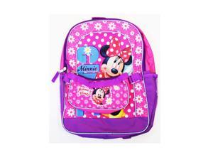 Backpack - Disney - Minnie Mouse w/Detachable Purse - Pink Girls Bag 108061