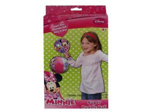 """Disney Minnie Mouse Inflatable Toy Paddle Ball Set for Play to 8"""""""
