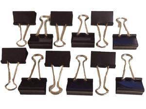 """Legacy LGY 60413 Medium Binder Clips Size 1-1/4"""" Nickel Plated Arms 12 Count"""