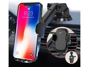 Vantrue 3 in 1 Car Mount Phone Holder with Telescoping Long Arm Quick Release Button for Windshield Vent Dashboard, Fit for iPhone 12 Pro Max/12 Pro/12/12 Mini/11/11 Pro/11 Pro Max/XS/XR/X/8, Samsung