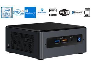 Intel NUC NUC8i5BEHS Home and Business Desktop Black (Intel i5-8260U 4-Core, 8GB RAM, 256GB m.2 SATA SSD, Intel UHD 620, Wifi, Bluetooth, 1xHDMI, SD Card, Win 10 Pro)