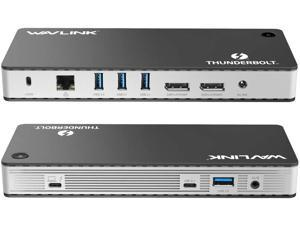 WAVLINK Titan Thunderbolt 3 8K Display Docking Station UTD21 (1x Thunderbolt 3 Port, 2x DisplayPort(DP1.4), 1x USB-C(10G), 2x USB-A(10G), 2x USB-A(5G), 1 x RJ45)