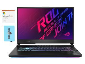 "ASUS ROG Strix G17 G712LU Gaming and Entertainment Laptop (Intel i7-10750H 6-Core, 8GB RAM, 512GB SSD, 17.3"" Full HD (1920x1080), NVIDIA GTX 1660 Ti, Win 10 Home) with Microsoft 365 Personal , Hub"
