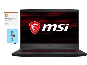 "MSI GF65 Thin Home and Entertainment Laptop (Intel i7-10750H 6-Core, 16GB RAM, 512GB PCIe SSD, 15.6"" Full HD (1920x1080), NVIDIA RTX 3060, Wifi, Win 10 Home) with Microsoft 365 Personal , Hub"