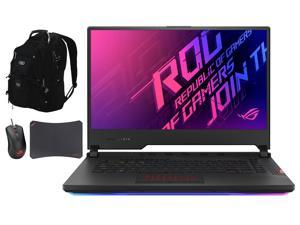 """ASUS ROG Strix Scar 15 Gaming and Entertainment Laptop (Intel i9-10980HK 8-Core, 32GB RAM, 2TB SSD, 15.6"""" Full HD (1920x1080), Win 10 Pro) with ME2 Backpack , Harrier GT300 , GM50 Pad"""