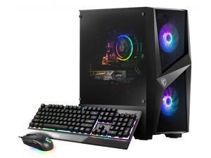 MSI Codex R Desktop PC Black (Intel i5-10400F 6-Core, 16GB RAM, 512GB SSD + 1TB HDD, NVIDIA GTX 1660 Ti, Wifi, Bluetooth, 1xHDMI, 3 Display Port (DP), Backlit Keyboard, Win 10 Home)