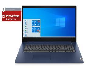 """Lenovo IdeaPad 3 17IIL05 Home and Business Laptop (Intel i5-1035G1 4-Core, 8GB RAM, 1TB HDD, 17.3"""" HD+ (1600x900), Intel UHD, Wifi, Win 10 Home) with McAfee AntiVirus Protection 2021 for 1PC, 1 Year"""