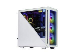 Velztorm Gladio Custom Built Powerful Gaming Desktop PC White (AMD Ryzen 9 5900X 12-Core, 16GB RAM, 512GB PCIe SSD + 1TB HDD (3.5), Radeon RX 6800 XT, Wifi, Bluetooth, 2xUSB 3.0, 1xHDMI, Win 10 Home)