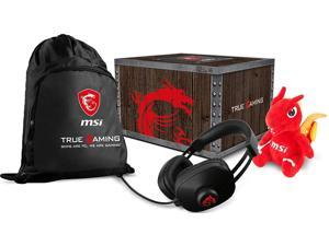 MSI Gaming Loot Box Pack 2018 Dragon Fever Gaming Headset, Bag & Lucky Plush
